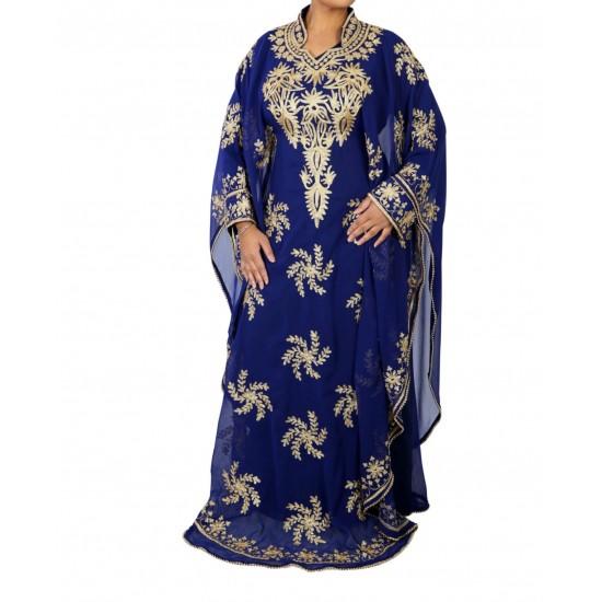 MOROCCAN NAVY BLUE ISLAMIC GEORGETTE FANCY WEAR