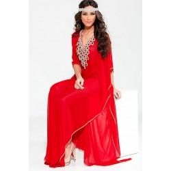RED MODERN FARASHA ARABIC KAFTAN DRESS