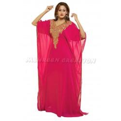 Pink Modern Arabic Fancy Kaftan Exclusive Dress