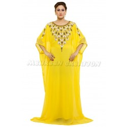 Causal Modern Islamic Khaleeji Maxi Farasha Dress