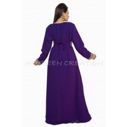 PURPLE MODERN CASUAL MAXI FARASHA DRESS