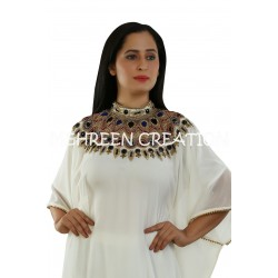 3/4 SLEEVE MODERN ARABIAN ISLAMIC HAND ZARI WORK PARTY WEAR DRESS