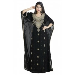 3/4 SLEEVE PARTY WEAR KAFTAN FARASHA ARABIAN MAXI TAKSHITA VAR DRESS