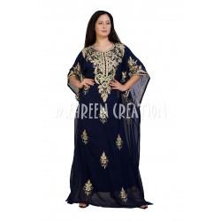 3/4 DUBAI MOROCCAN KAFTAN ISLAMIC ZARI WORK DRESS