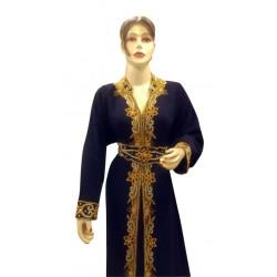 BLACK DUBAI MOROCCAN FANCY ARABIC CAFTAN FOR WOMEN GOWN TAKSHITA VAR