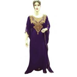 TRY THIS PURPLE MODERN ARABIC KAFTAN FARASHA MODERN PARTY WEAR DRESS