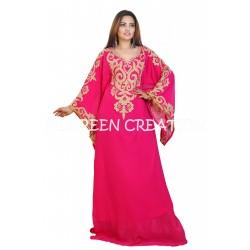 DUBAI MOROCCAN GREEN ETHNIC JALABIYA MODERN DRESS