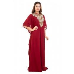 2020 DUBAI MOROCCAN KAFTAN ISLAMIC GEORGETTE DRESS