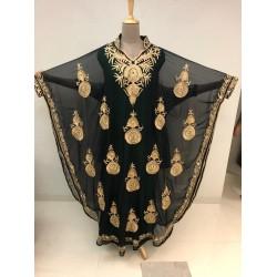 BLACK MOROCCAN KAFTAN ARABIC FANCY MODERN BRIDAL WEAR DRESS