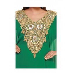 Green Half Sleeve Modern Islamic Farasha