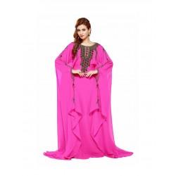 PINK GEORGETTE MOROCCAN KAFTAN DRESS