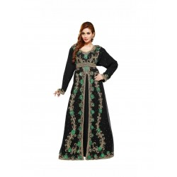 Black Modern Exclusive Bridal Wear Kaftan